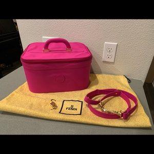 Authentic fendi train vanity toiletries case bag